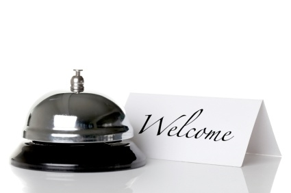Welcome greeting for new clients